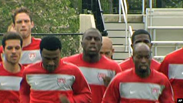 US Soccer team members training in Princeton, New Jersey