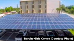 Planned 25-kilowatt embedded solar carport for Starehe Girls Centre