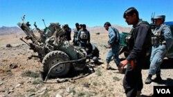 Lokasi serangan udara NATO yang menewaskan 8 pengawal Afghanistan di provinsi Ghazni (3/5).
