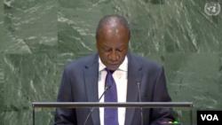 Alpha Condé, le président de la Guinée, le 25 septembre 2019.
