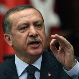 Turkish PM Recep Tayyip Erdogan addresses his lawmakers at the parliament in Ankara, June 1, 2010, a day after Israeli naval commandos stormed a flotilla of ships carrying aid and hundreds of international peace activists to the blockaded Gaza Strip on Mo