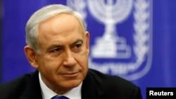 PM Israel Benyamin Netanyahu saat menghadiri rapat faksi Likud-Beitenu parlemen Israel di Yerusalem, 5 Februari 2013 (Foto: dok).