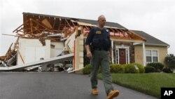 صدمات وارد شده از توفان آیرین در ایالات متحده