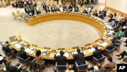 Vue d'une session du Conseil de sécurité de l'ONU à New York le 17 mars 2011.