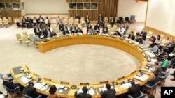 Vue d'une session du Conseil de sécurité de l'ONU à New York, au siège de l'organisation, à New York, le 17 mars 2011.