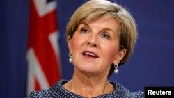 Ngoại trưởng Úc Julie Bishop xác nhận Triều Triên gửi thư 'mời' Úc thôi liên minh với Mỹ (ảnh tư liệu, 5/2017).