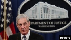 U.S. Special Counsel Robert Mueller makes a statement on his investigation into Russian interference in the 2016 U.S. presidential election at the Justice Department in Washington, May 29, 2019. (REUTERS/Jim Bourg)