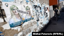 Bosnia and Herzegovina -- The posters of political parties due to local elections in Bosnia and Hercegovina, Sarajevo 23Sep2016
