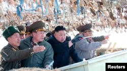 North Korea's Leader Visits Coastal Detachment