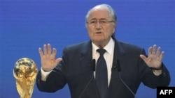 Predsednik Međunarodne fudbalske federacije (FIFA) Sep Blater na današnjoj ceremoniji u Cirihu