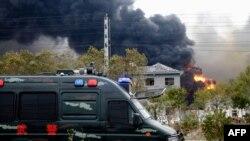 Kebakaran pabrik kimia di Yancheng, kawasan timur provinsi Jiangsu, 21 Maret 2019. (Foto: dok). Sembilan belas orang dilaporkan tewas akibat kebakaran pabrik di kota Ningbo, Minggu (29/9).