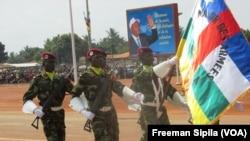 Parade militaire des FACA à Bangui en décembre 2016.