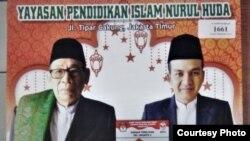 Kalender yang dilaporkan orang tua murid Yayasan Pendidikan Islam Nurul Huda, Cakung Barat ke Bawaslu. (Foto: orang tua murid)