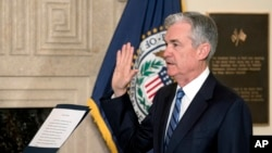 Ông Jerome Powell tuyên thệ nhậm chức ngày 5/2/18.