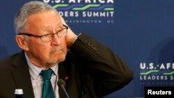 FILE - Zambia's interim president is Guy Scott.