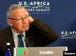 FILE - Zambia's new interim president is Guy Scott.