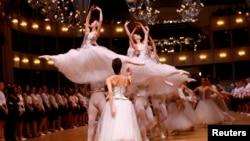 Des danseurs répètent leur spectacle à Vienne, Autriche, le 22 février 2017.