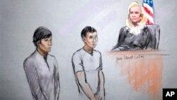 Диас Кадырбаев и Азамат Тажаяков в суде