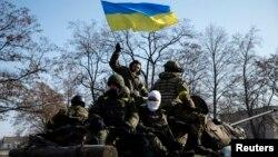 德法俄乌四国领导人在白俄罗斯首都明斯克签署停火协议后,乌克兰军队在德巴尔切夫附近调动。