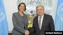 ကုလသမဂၢအတြင္းေရးမွဴးခ်ဳပ္ António Guterres နဲ႔ သူ႔ရဲ႕ ျမန္မာႏိုင္ငံဆိုင္ရာ အထူးအႀကံေပးပုဂၢိဳလ္ Christine Schraner Burgener