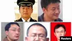 被美國司法部通緝的五名中國軍人