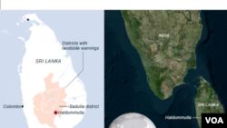 Sri Lanka, Haldummulla mudslide