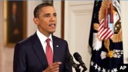 Shugaba Barack Obama na Amurka yana magana Jumma'a 29 Yuli 2011 kan daurin gwarmai da aka samu game da batun kara yawan bashin da doka ta kyale cewa za a iya bin gwamnati