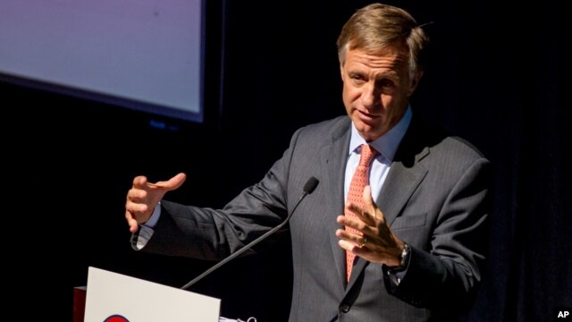 FILE - In this March 25, 2014, file photo, Tennessee Gov. Bill Haslam speaks at a luncheon in Nashville, Tenn.