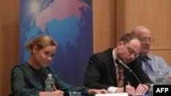 Слева направо: Мария Гайдар и Владимир Кара-Мурза-младший