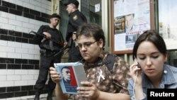 俄羅斯警察和調查人員突襲了幾名反對派領導人的住宅.