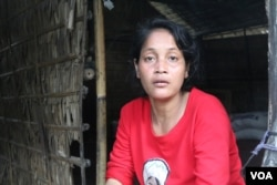 Ol Thida, 34, the mother of the two sisters who were raped and murdered on October 17, 2018. (Sun Narin/VOA Khmer)