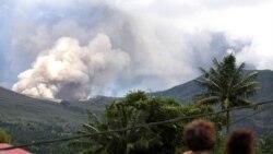 تصوری از آتش فشان لوکون. ۱۷ ژوئیه ۲۰۱۱