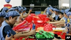 수출용 제품을 생산하는 중국 업체