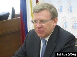 俄罗斯政府前副总理和前财政部长库德林 (美国之音白桦拍摄)