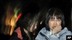 4月7日地震后妇女的反应