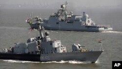 Tàu chiến của hải quân Ấn Độ.
