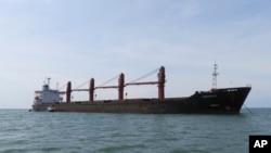 朝鲜运煤货船