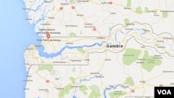 Carte de la Gambie.