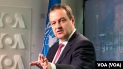 Ministar spoljnih poslova Srbije Ivica Dačić, Foto: VOA