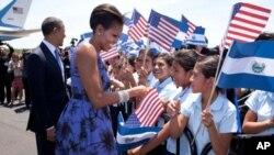 奧巴馬早前訪問薩爾瓦多受到熱烈歡迎。