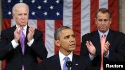 El presidente Barack Obama se dirige al Congreso y a la nación desde el Capitolio.