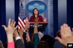 새라 허커비 샌더스 백악관 대변인.