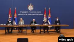 Arhiva - Konferencija za štampu kriznog štaba za borbu protiv epidemije koronavirusa, u Beogradu, 3. aprila 2020.