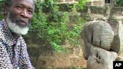 Kenyan soapstone carver Elkana Ong'esa