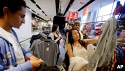 Shoppers at an H&M store in Atlanta, Georgia.