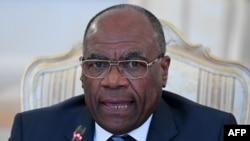 Léonard She Okitundu, ministre des Affaires étrangères de la République démocratique du Congo, lors d'une réunion à Moscou, Russie, 22 mars 2017.