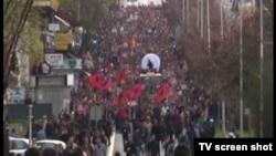 Protest opozicionih stranaka u Pristini, Kosovo 17. april 2015.
