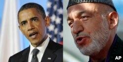 حامد کرزی از اوباما خواسته است تا عساکر امریکایی را سریعاً از افغانستان خارج ننماید.