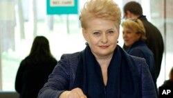 Ukraina notinch ekan, 58 yoshli prezident Dalya Gribauskayte NATO-Litva o'rtasidagi yaqin hamkorlikdan mamnun.