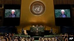 سخنرانی حسن روحانی در نشست سالانه مجمع عمومی سازمان ملل متحد در سال ۲۰۱۵ (۱۳۹۴)